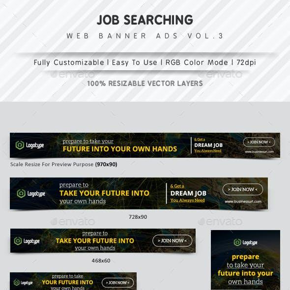 Job Searching Web Banner Ads Vol.3
