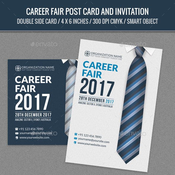 Career Fair Post Card Template