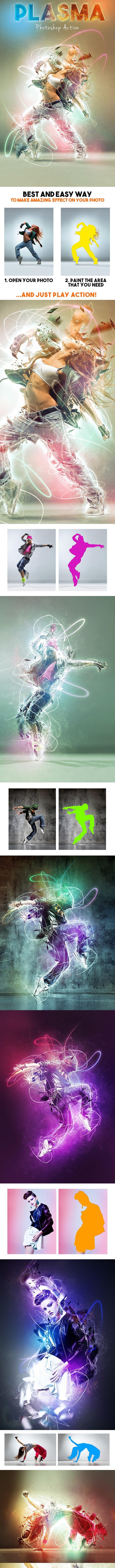 Plasma Photoshop Action - Photo Effects Actions