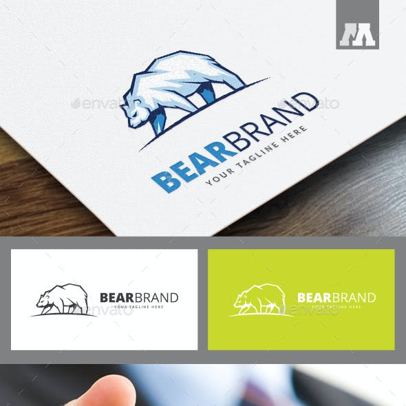 Bear Brand Logo Template