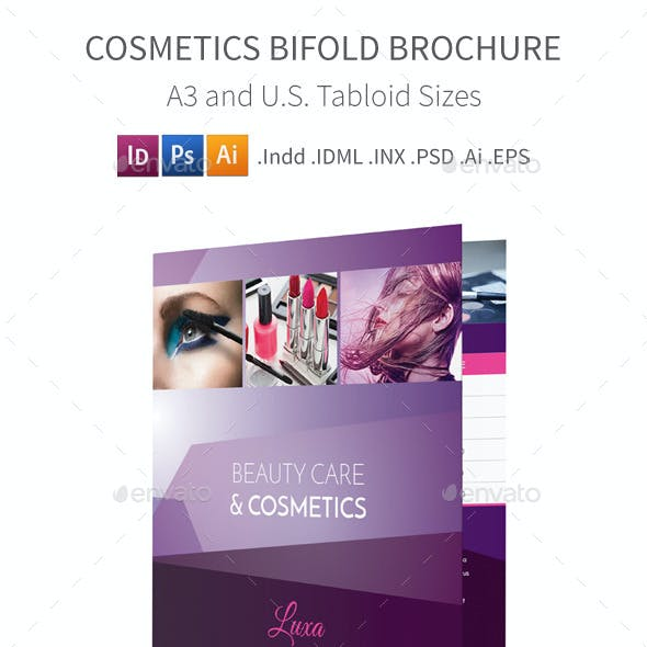 Cosmetics Bifold / Halffold Brochure