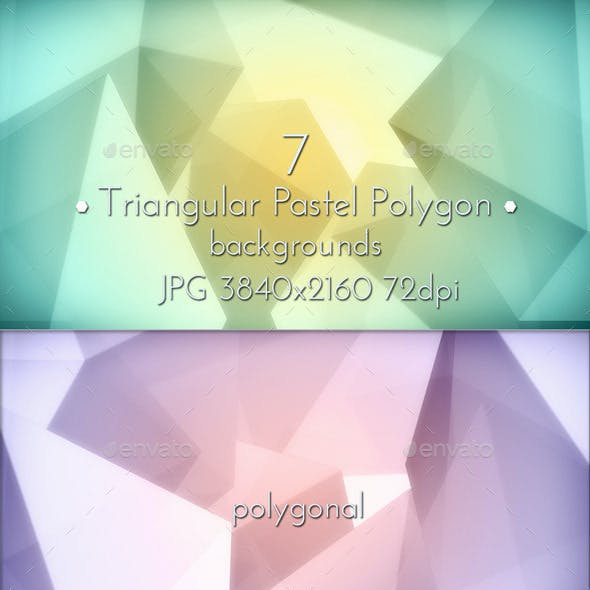 Pastel Polygon Background