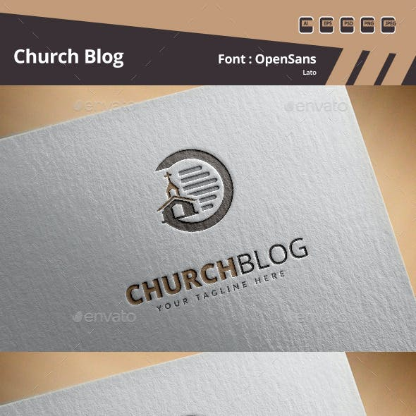 Church Blog Logo Template