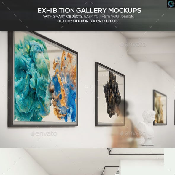 Exhibition Gallery Mockups