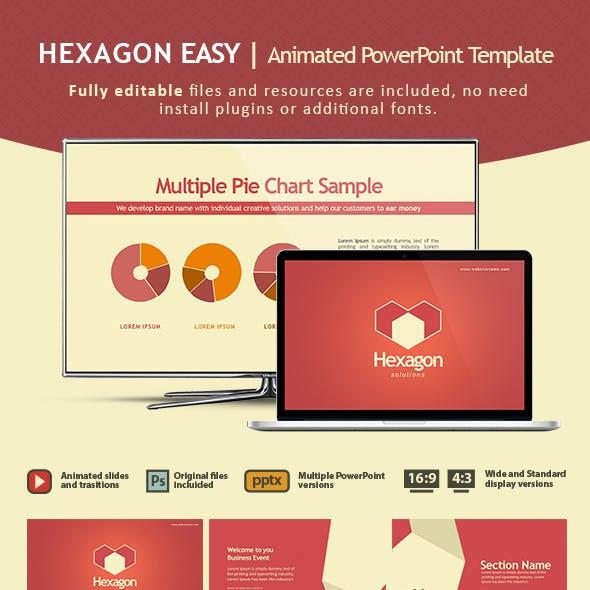 HEXAGON EASY Animated PowerPoint Template