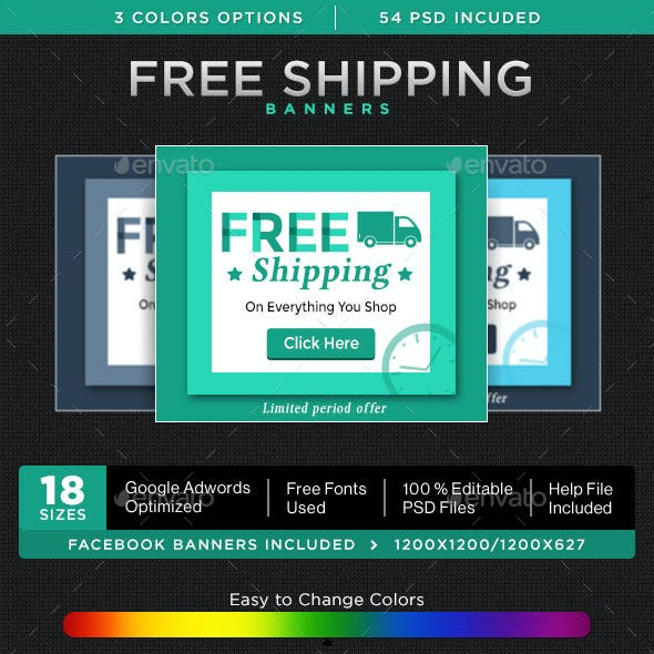 Free Shipping Banners