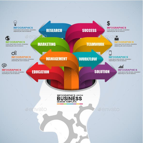 Infographic Business Brain Vector Design