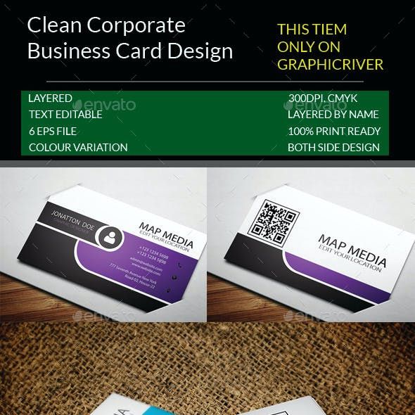 Clean Corporate Business Card Template.11