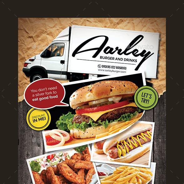 Food Truck Menu Flyer + Business Card