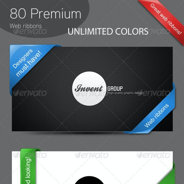 80 Premium Web Ribbons