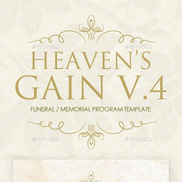 Heaven's Gain - Funeral / Memorial Program V.4