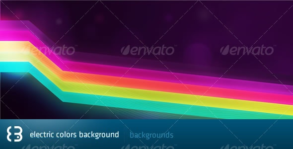 Electric Colors Background - Backgrounds Graphics
