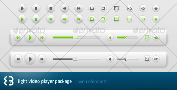Light Video Player Package - Miscellaneous Web Elements