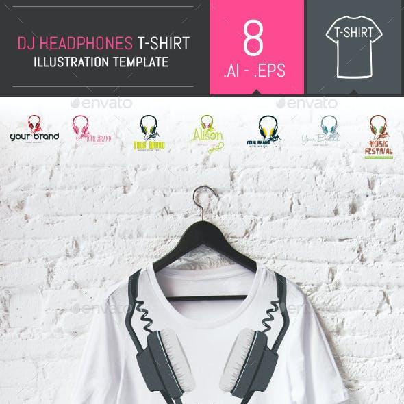 8 Vector Professional Dj Headphones Templates