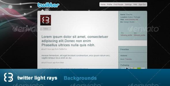Twitter Light Rays - Twitter Social Media