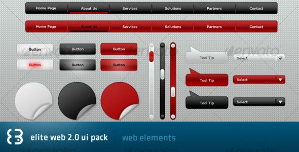 Elite Web 2.0 UI Pack - User Interfaces Web Elements