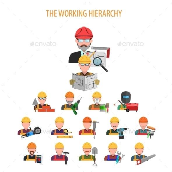 Worker Concept Flat