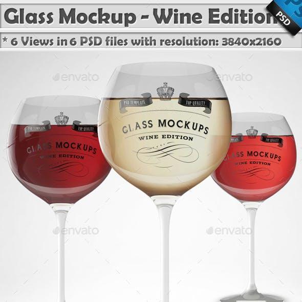 Glass Mockup - Wine Glass Mockup Volume 4