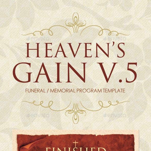 Heaven's Gain - Funeral / Memorial Program V.5
