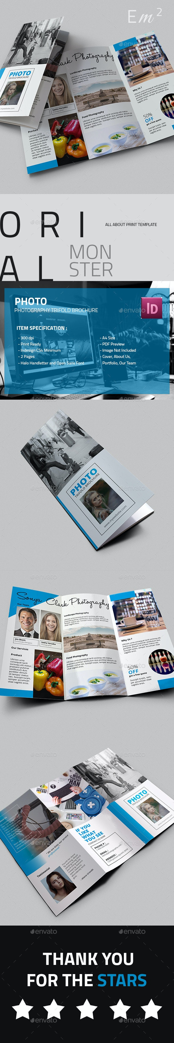 Photo - Photography Trifold Brochure - Corporate Brochures