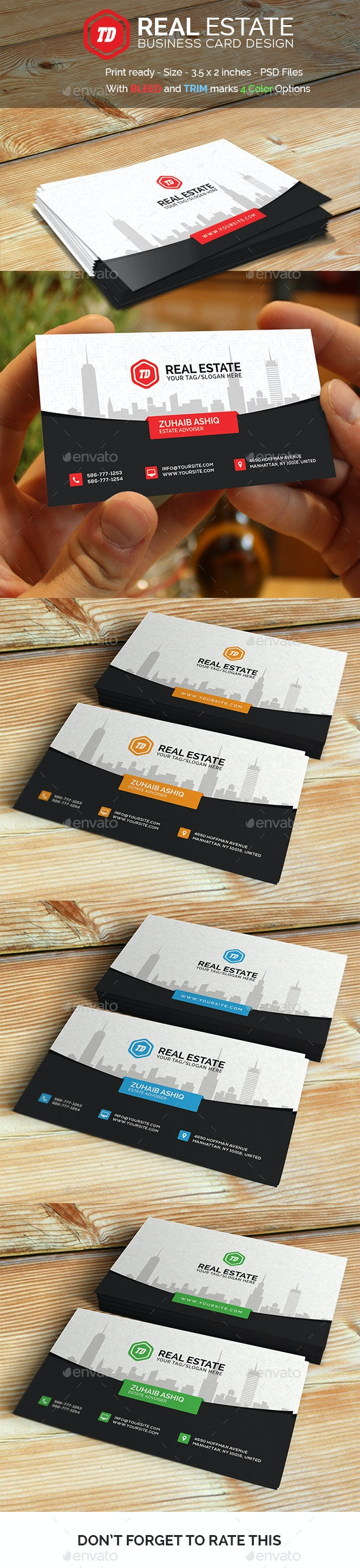 Real Estate - Business Card  - Corporate Business Cards