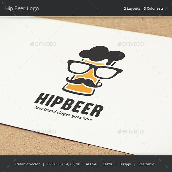Hip Beer Drink Logo