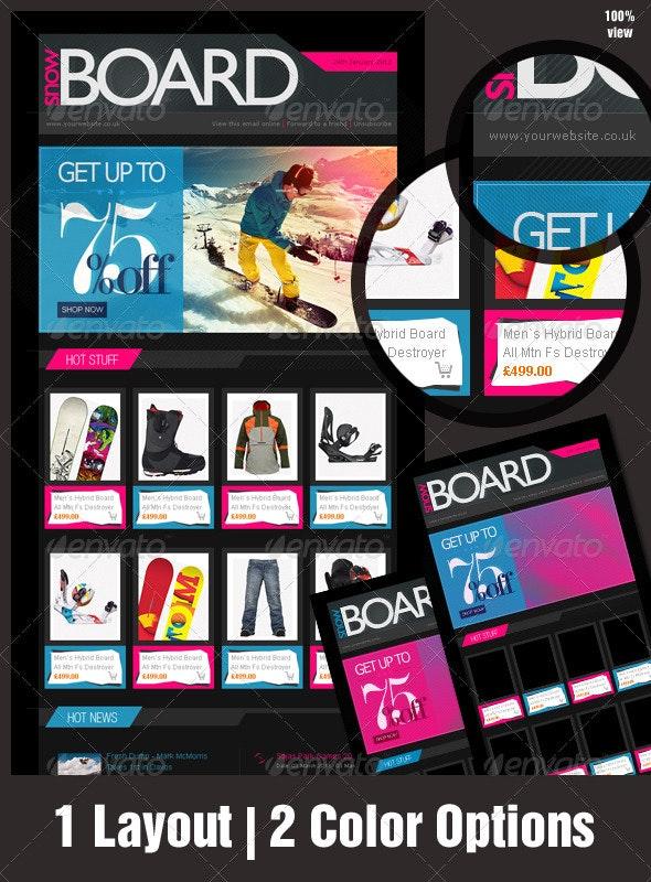 eNewsletter Design for eCommerce - Adrenaline Rush - E-newsletters Web Elements