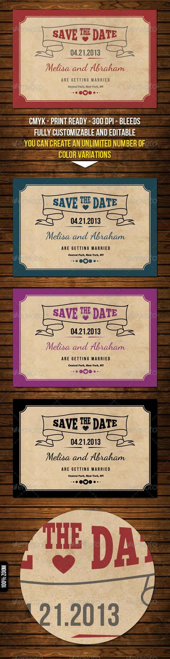 Old Style Save The Date Cards - Weddings Cards & Invites