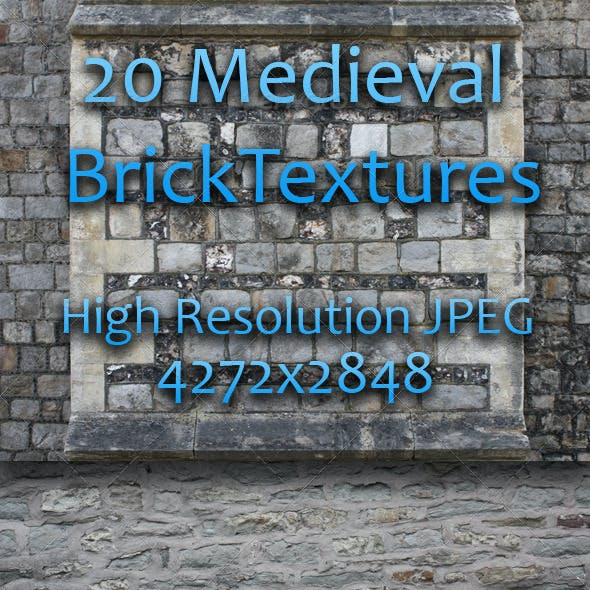 20 Medieval Brick Textures - Pack One