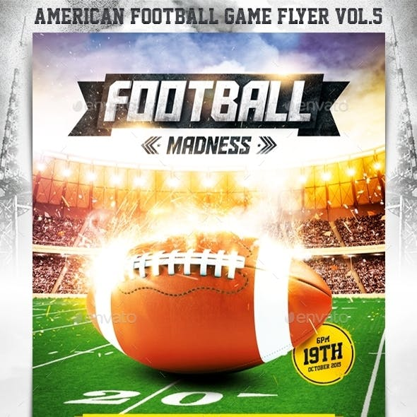American Football Game Flyer vol.5