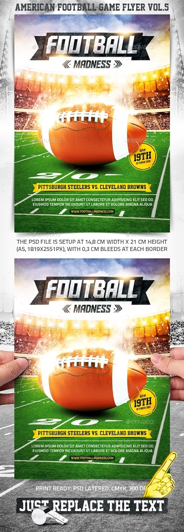 American Football Game Flyer vol.5 - Sports Events
