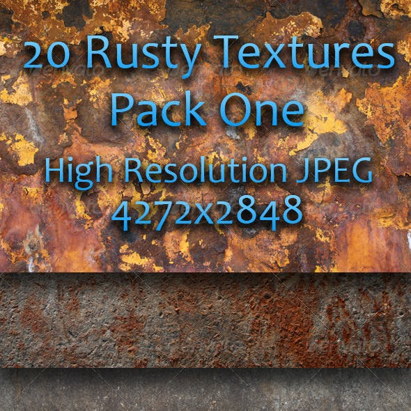 20 Rusty Textures - Pack One