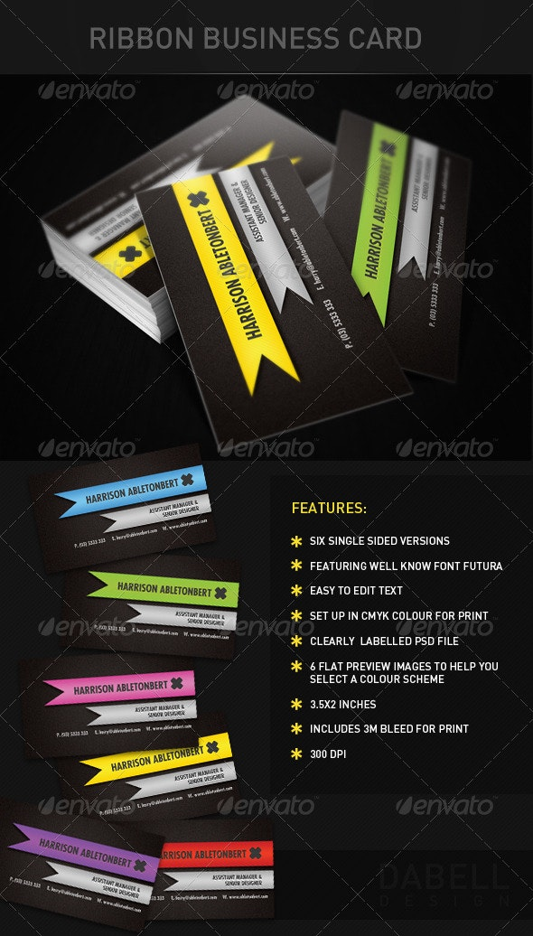 Ribbon Business Card - Creative Business Cards