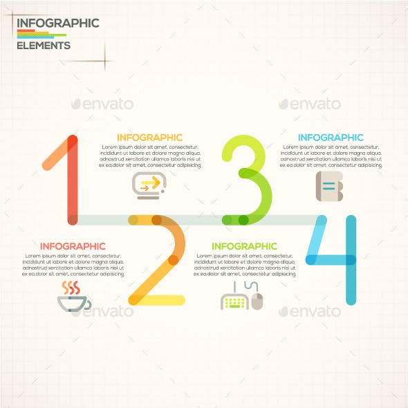 Outline Infographics With Numbers