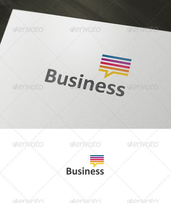 Business Chat Logo - Abstract Logo Templates