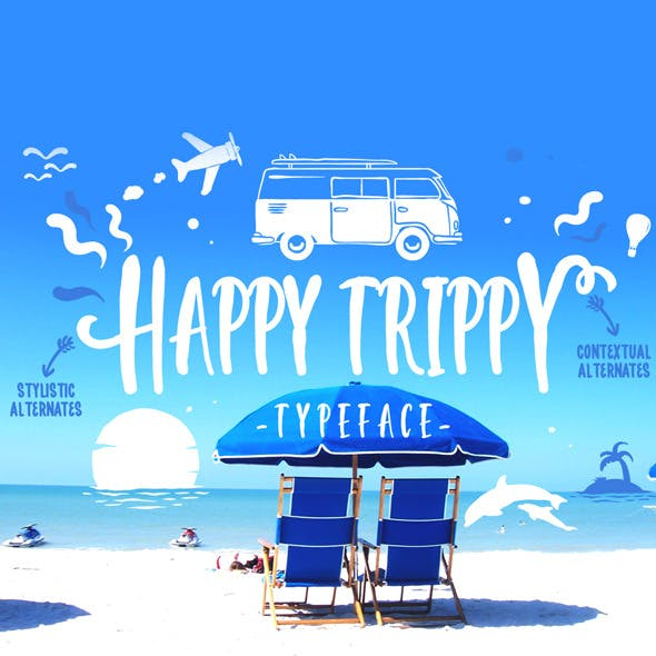 Happy Trippy Typeface