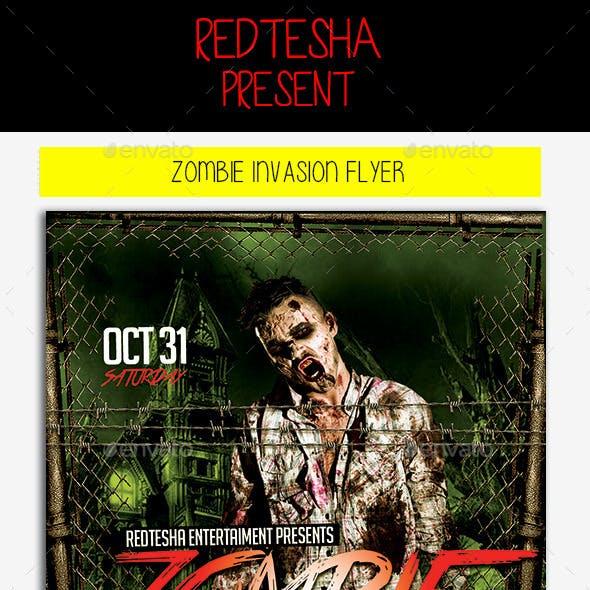 Zombie Invasion Flyer