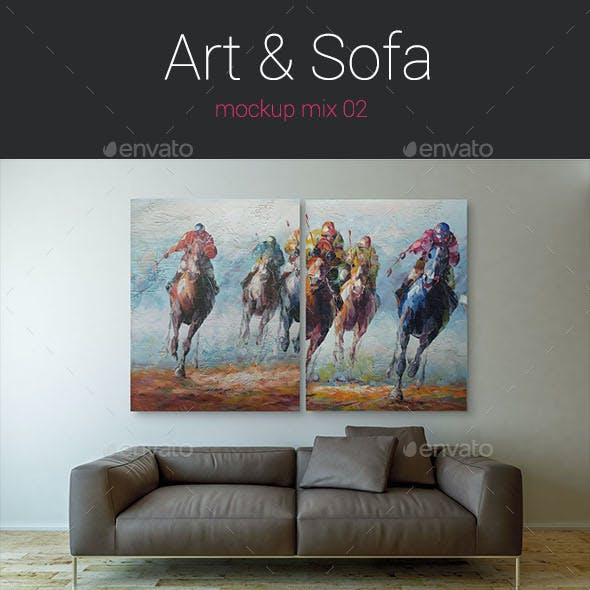 Art & Sofa Mock up - 02