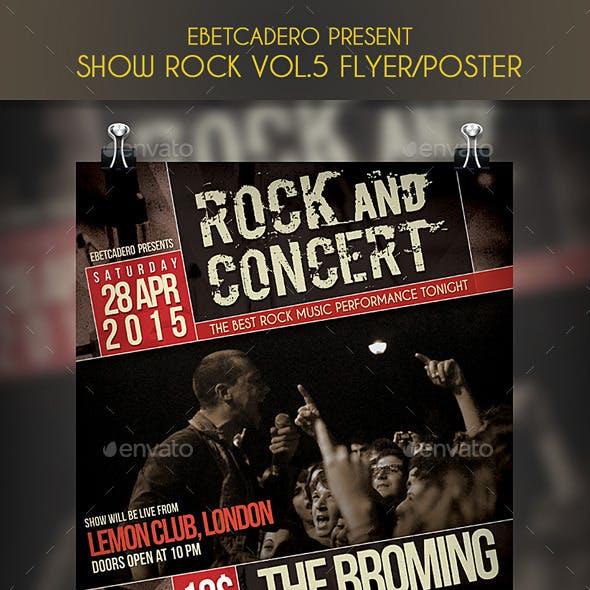 Show Rock Event Flyer / Poster Vol.5