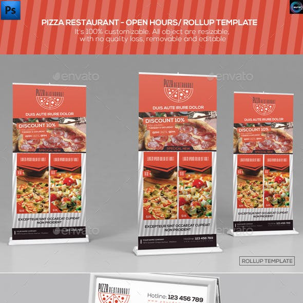 Pizza Restaurant-Open Hours/ RollUp Template