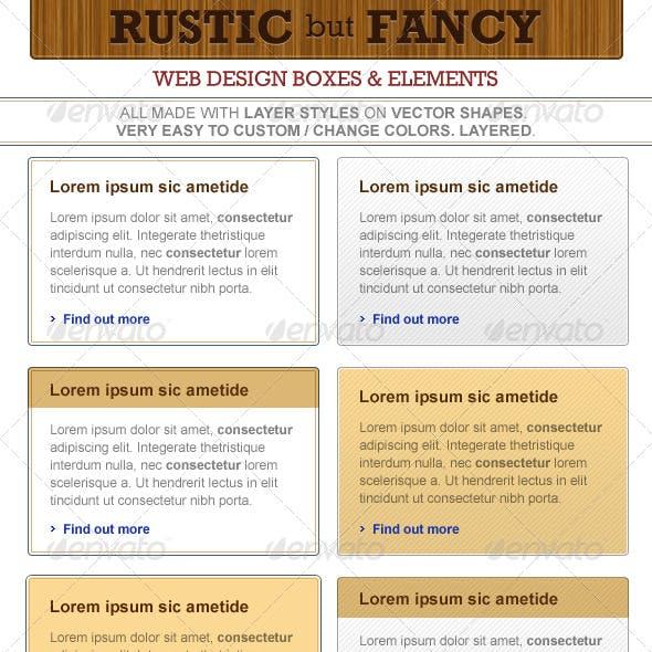 Rustic But Fancy - Web Design Elements