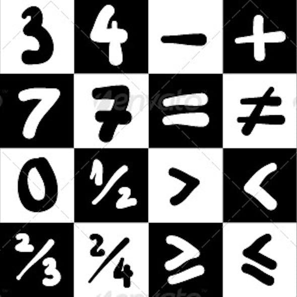 Handdrawn Math Symbols Collection #1