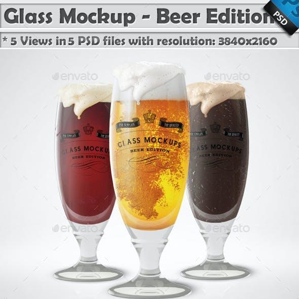 Glass Mockup - Beer Glass Mockup Edition Vol 6
