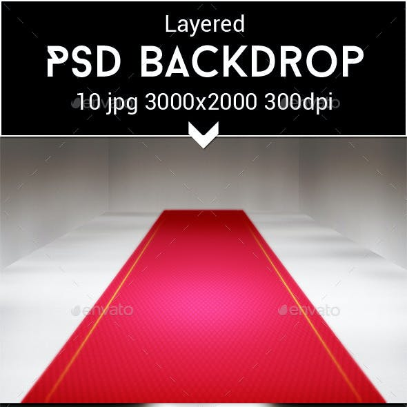 Red Carpet PSD Backdrop