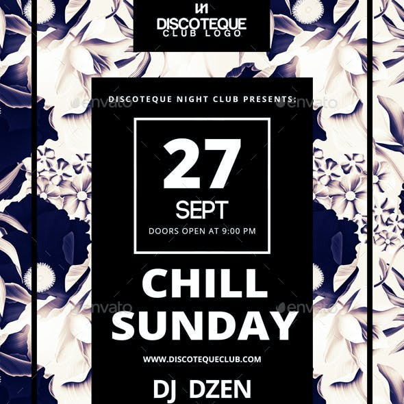 Chill Sunday Party Flyer