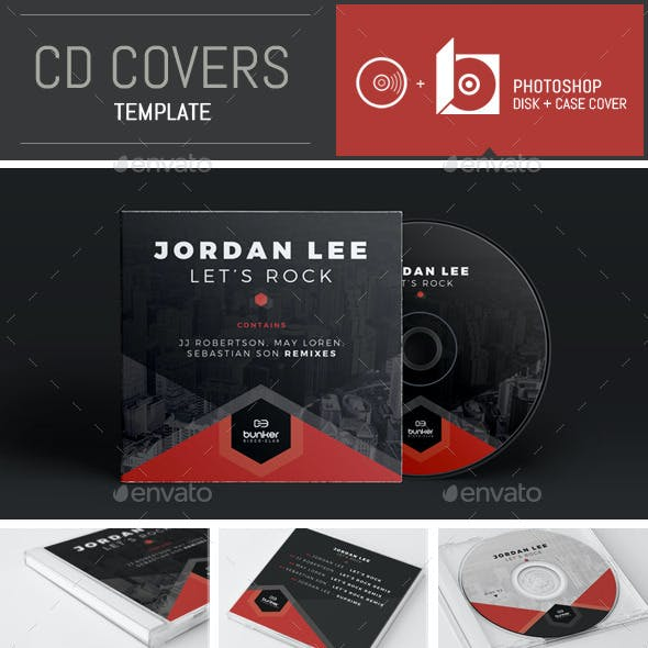 DJ Music Hexagon CD Cover Template