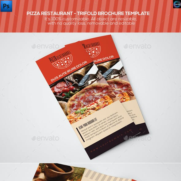 Pizza Restaurant - Trifold Brochure Template