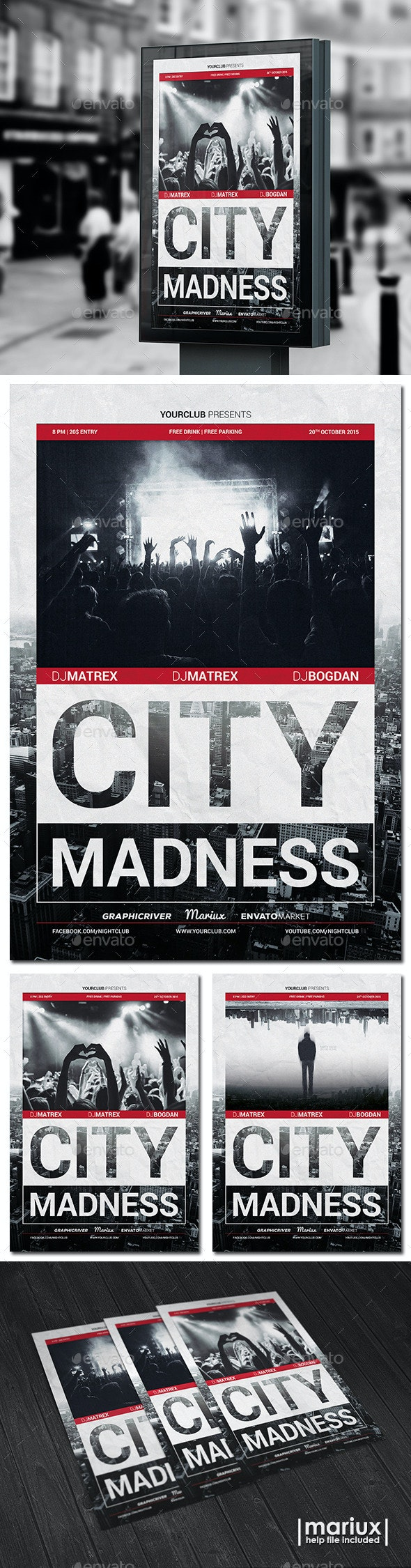 City Madness Party Flyer - Clubs & Parties Events