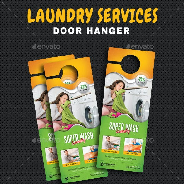 Laundry Services Door Hanger
