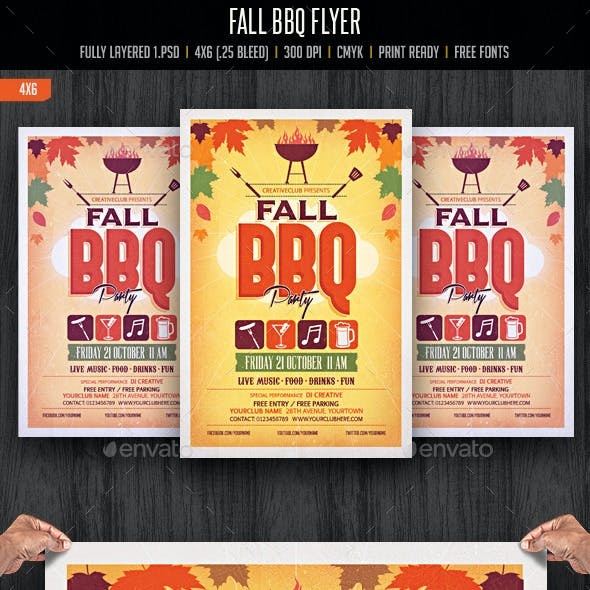 Autumn Fall BBQ Party